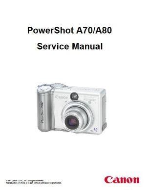 powershot a80 service manual complete service manuals rh completeservicemanuals com canon powershot a80 mode d'emploi canon powershot a80 user manual