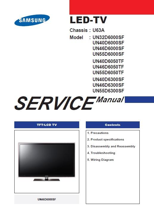 un55d6050tf service manual complete service manuals rh completeservicemanuals com samsung 55 inch tv owner's manual samsung 55 inch tv owner's manual